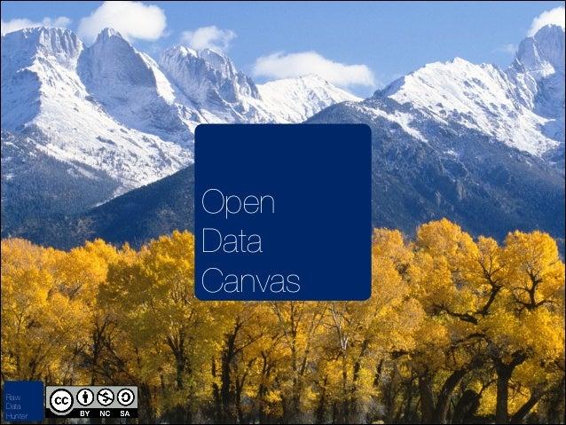 Open Data Canvas  Raw Data Hunter