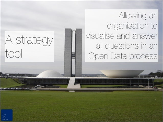 A strategy tool  Raw Data Hunter  Allowing an organisation to visualise and answer all questions in an Open Data process
