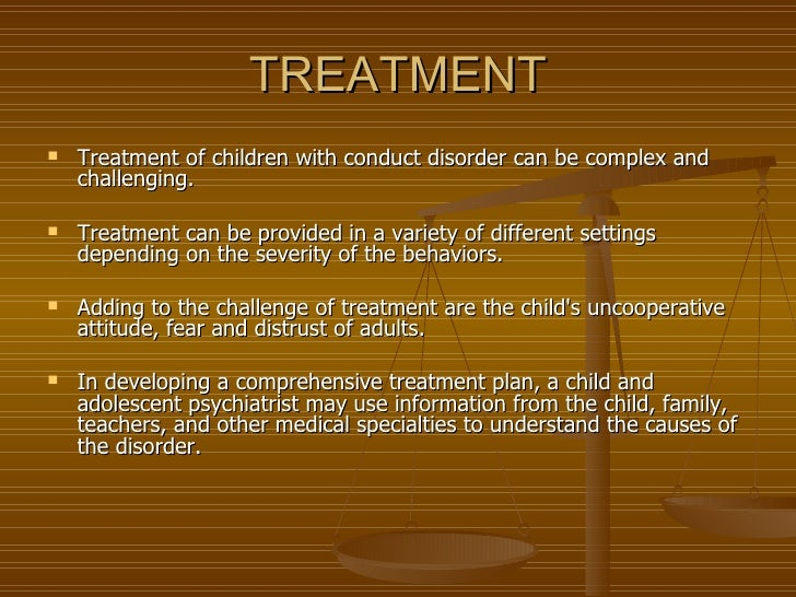 conduct disorder in children This paper reviews recent research on the role of parent-child interaction in the  etiology of children's conduct disorder it examines the role of social and family.