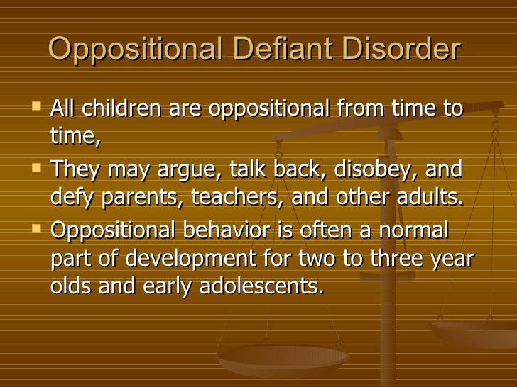 oppositional defiant disorder in adults symptoms