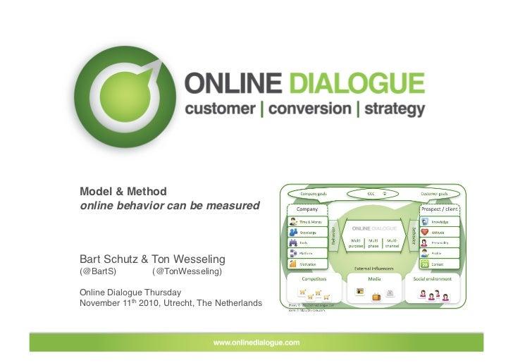 Model & Method online behavior can be measured    Bart Schutz & Ton Wesseling (@BartS)         (@TonWesseling)  Online Di...