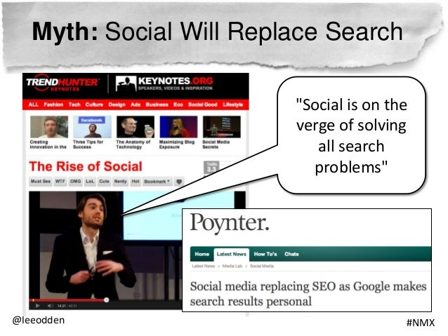 Myth: Social Will Replace Search