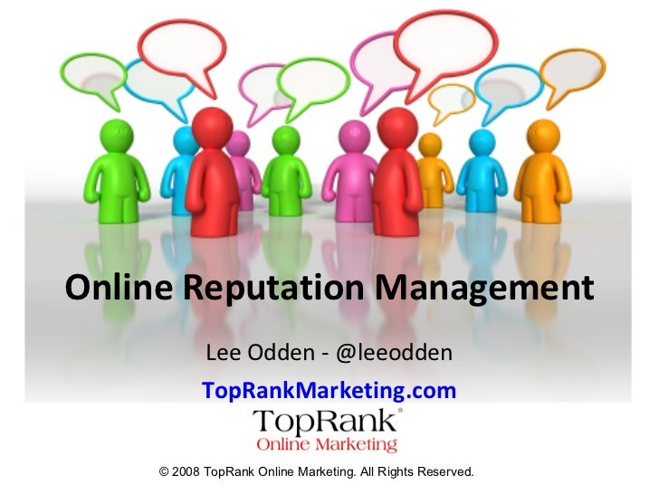 Online Reputation Management - TopRankMarketing.com