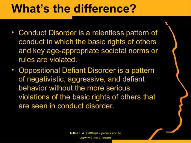 conduct and oppositional defiant disorders essay We have put together a team of expert essay writers who are highly competent in oppositional defiant disorder (odd) conduct disorder anxiety disorder fetal.