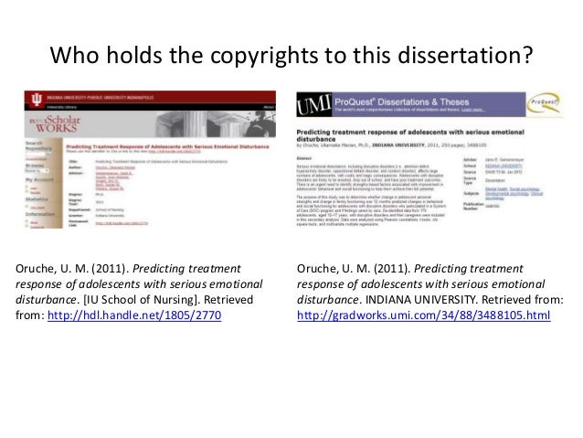dissertation copyright images Any copyrighted material used in your thesis, including photos, pictures, charts, graphs, maps, etc should receive full citation f or example, i n the case of an image of an artifact or artwork, you may include a description of what is missing.