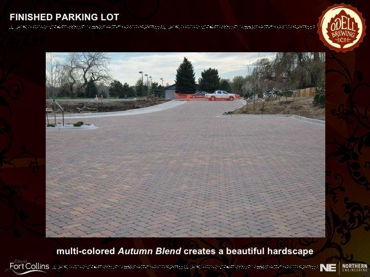 FINISHED PARKING LOT multi-colored  Autumn Blend  creates a beautiful hardscape