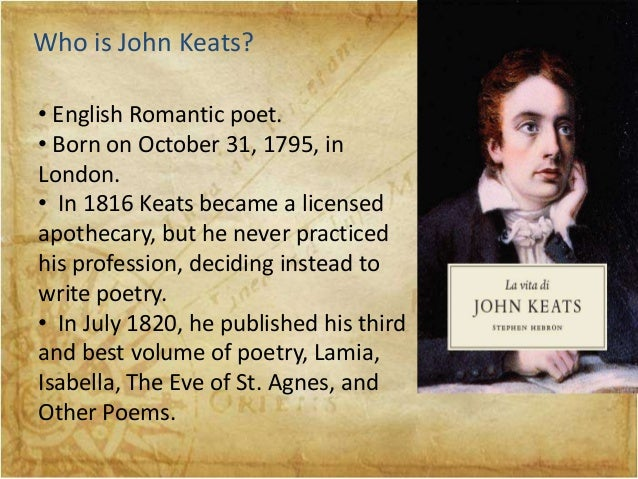 an analysis of eve of st agnes by john keats Keats, john hard cover isabella, the eve of st agnes is keats' third and final volume of poetry b & b rare books, ltd 30 east 20th street.