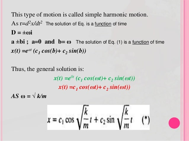 APPLICATION OF HIGHER ORDER DIFFERENTIAL EQUATIONS