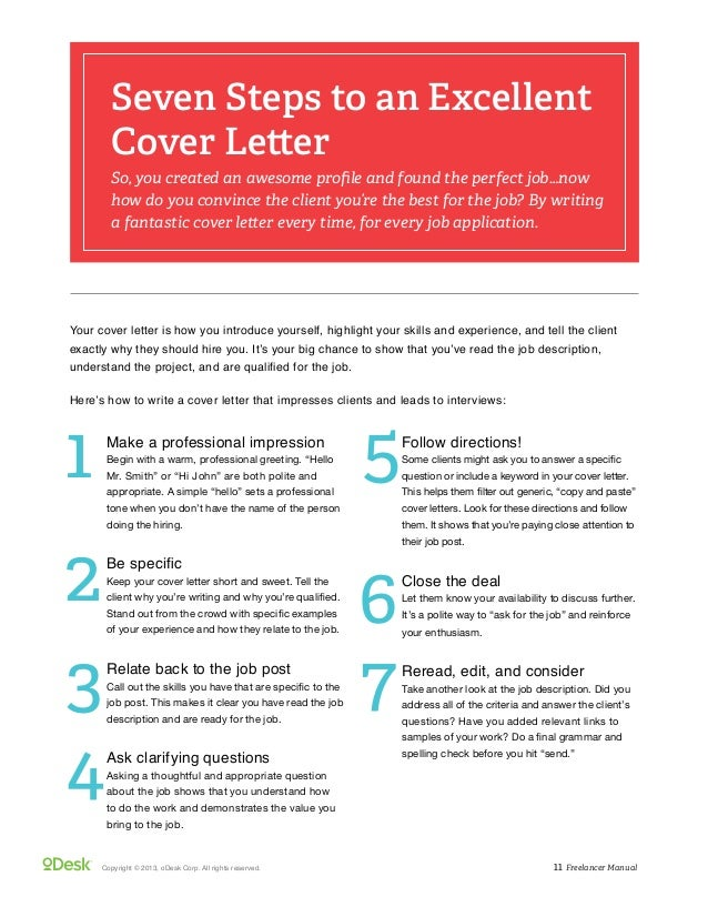 Freelance writer sample cover letter