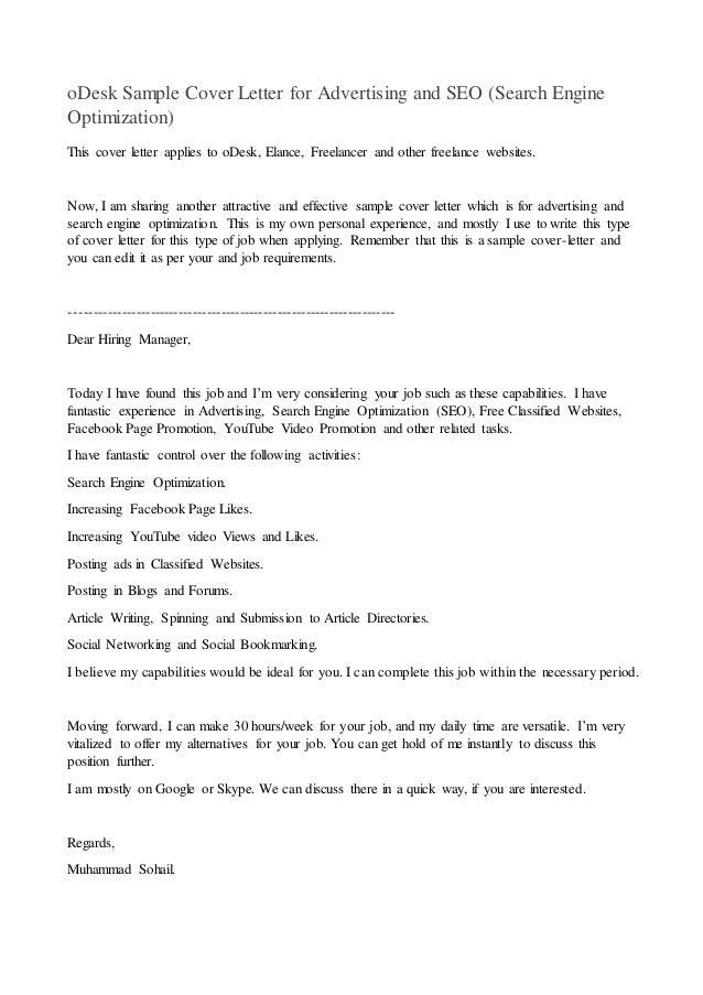 google sample cover letter