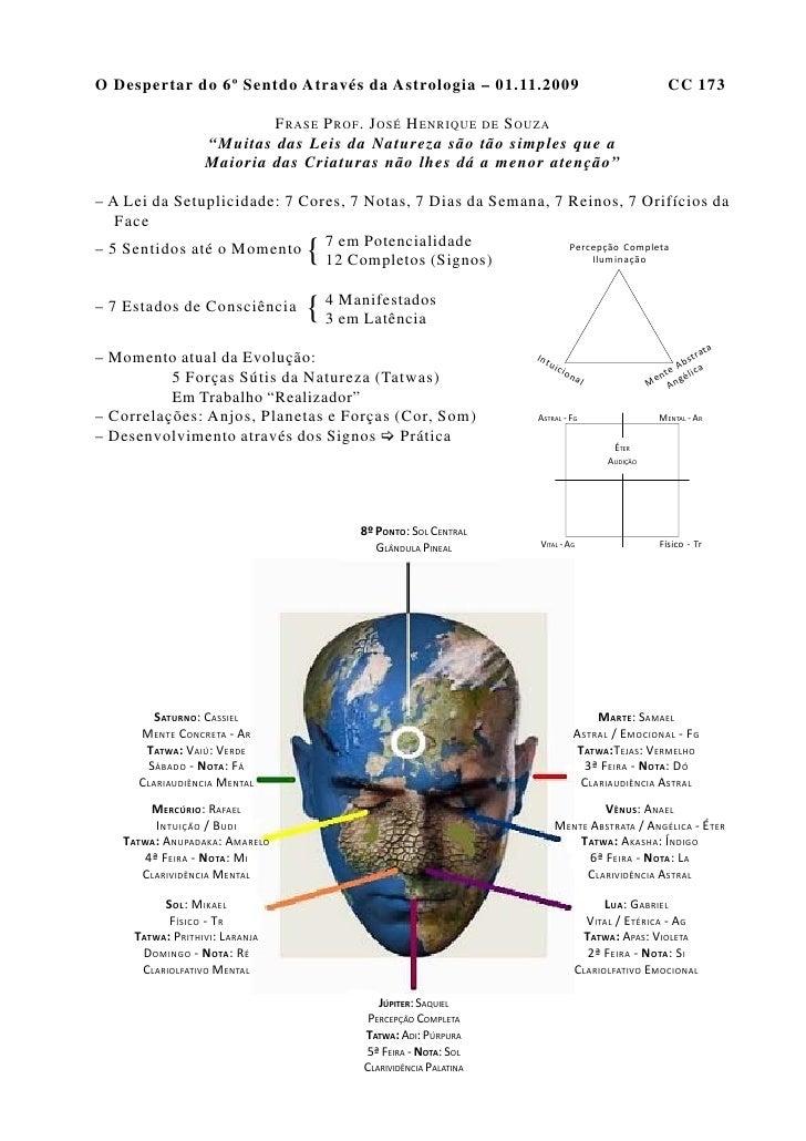 O Despertar do 6º Sentdo Através da Astrologia – 01.11.2009                                                 CC 173        ...