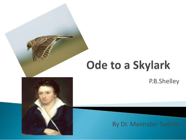 an overview of to a skylark by shelley Percy bysshe shelley's 'to a skylark' was inspired by the song of a real skylark  overview of the collection an introduction to 'to a skylark'.