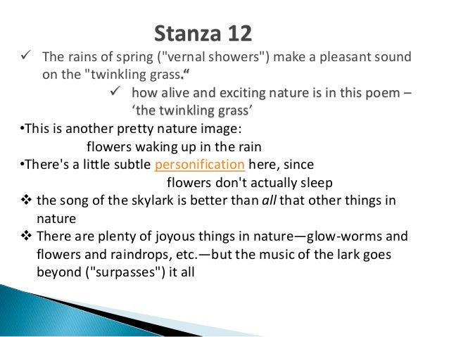 to a skylark analysis by stanza