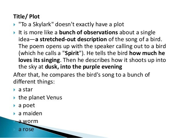 to a skylark wordsworth analysis