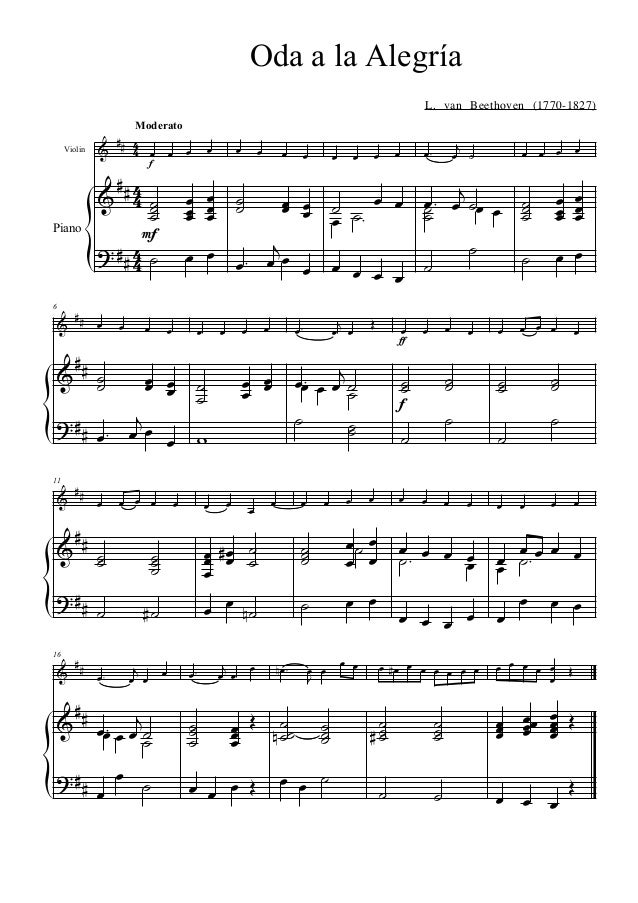 ode to joy violin pdf