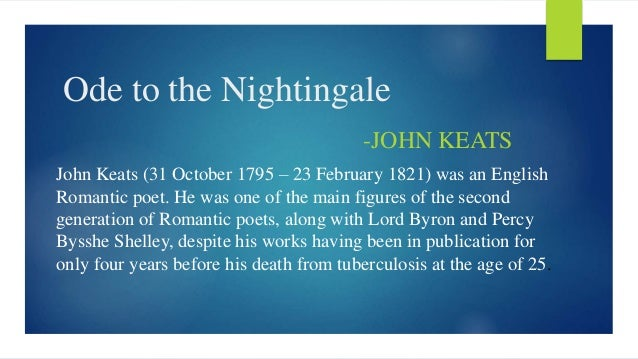 ode to a nightingale as a romantic poem
