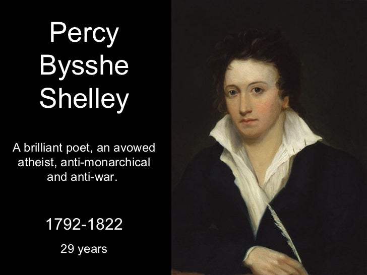 percy shelly master of emotion Percy bysshe shelley was one of the well-known english romantic poet best   shelley wrote many poems by the encouragement of lord byron and  here, in  this poem the poet compares his emotions with the things of.