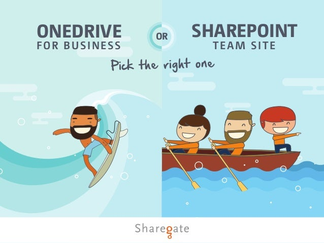 TEAM SITE SHAREPOINTONEDRIVE FOR BUSINESS OR Pick the right one