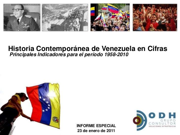 Historia Contemporánea de Venezuela en Cifras<br />Principales Indicadores para el período 1958-2010<br />INFORME ESPECIAL...