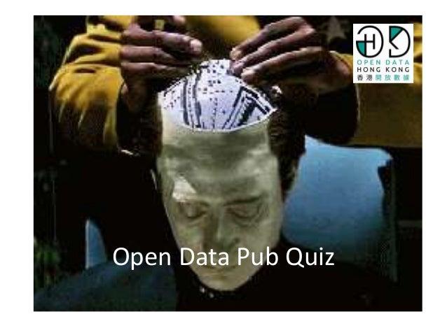Open Data Pub Quiz