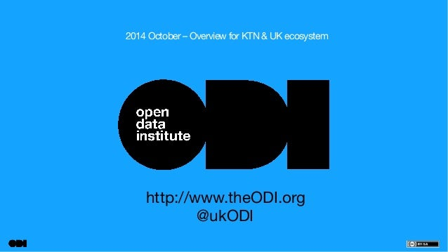2014 October – Overview for KTN & UK ecosystem  http://www.theODI.org  @ukODI