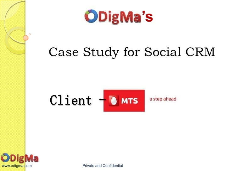 social crm case studies 2012 Social media, social crm, customer service and loyalty in order to help the   wherever they are (kotler and armstrong, 2012), in this case social media   studies, as examples of unique highly ranked companies among.