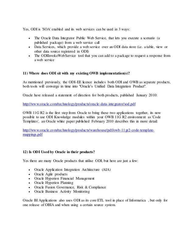 oracle data integrator interview questions and answers pdf