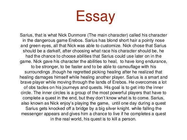 An essay risks being