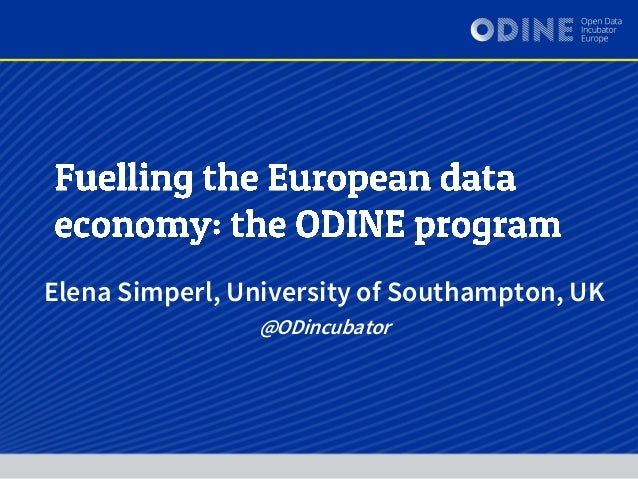 Elena Simperl, University of Southampton, UK @ODincubator