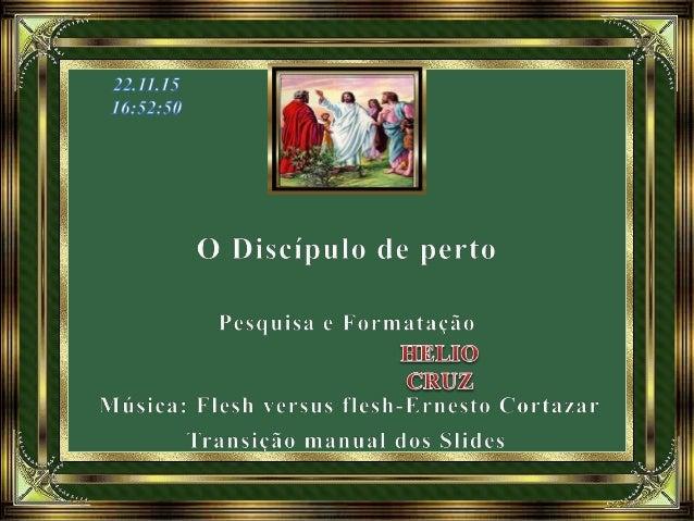 """Com base no conto """"O Discípulo de perto"""", do livro Pontos e Contos, pelo Espírito Irmão X. (Momento de paz Maria da Luz). ..."""
