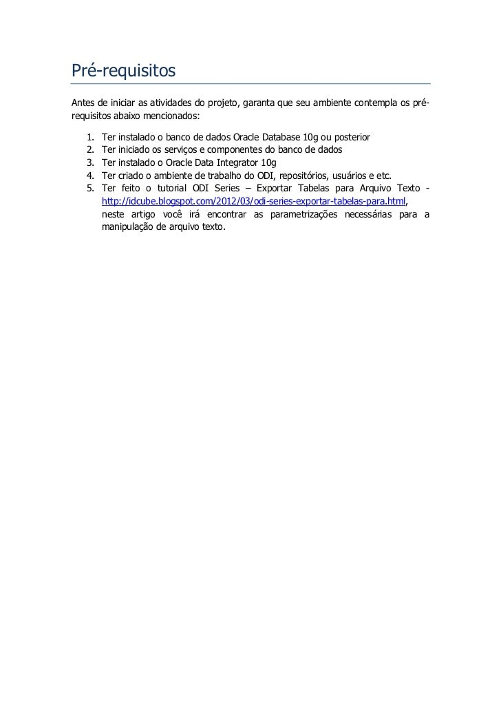 ODI Series - Importar Arquivos Texto para Tabelas Slide 3