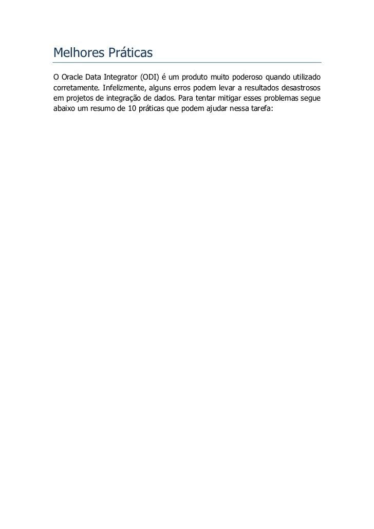 ODI SERIES - Melhores Práticas Slide 2