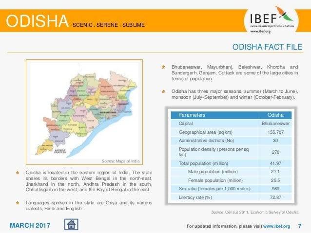 Odisha State Report - March 2017