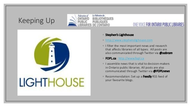 Keeping Up ◦ Stephen's Lighthouse ◦ http://www.stephenslighouse.com ◦ I filter the most important news and research that a...