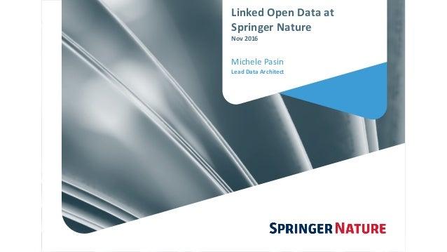 LinkedOpenDataat SpringerNature Nov2016 MichelePasin LeadDataArchitect
