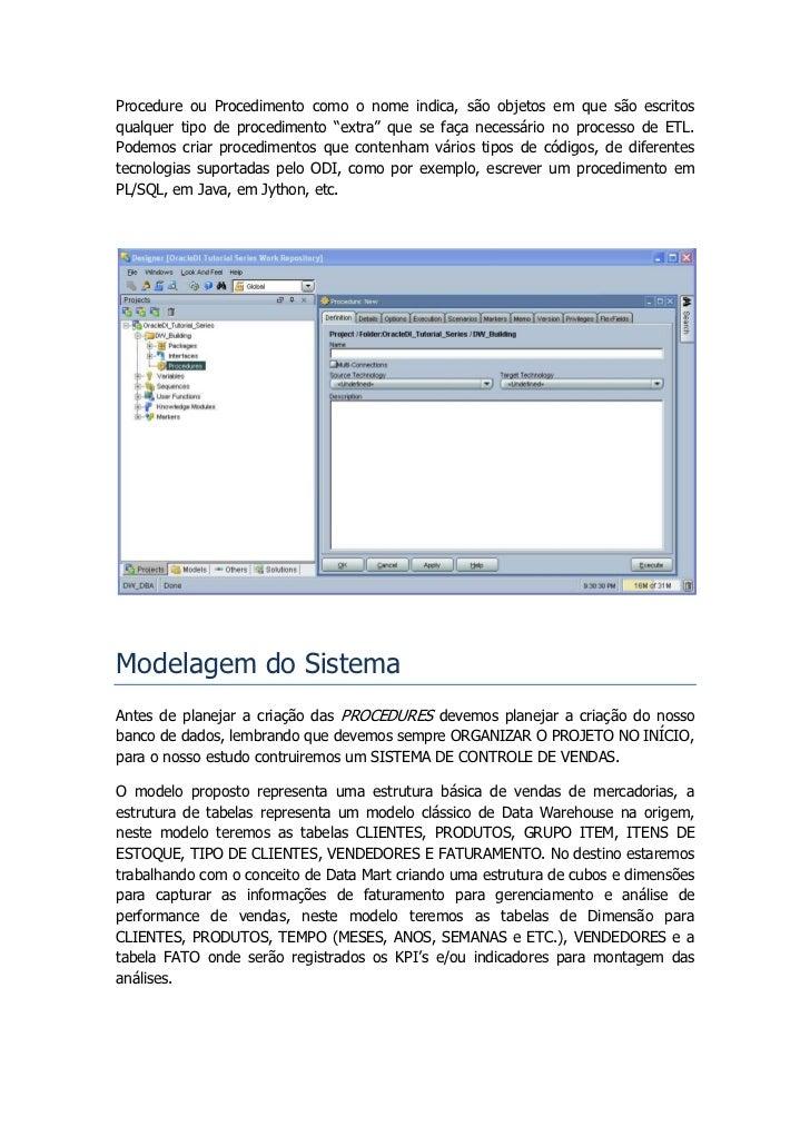 ODI Tutorial - Desenvolvendo Procedures Slide 3