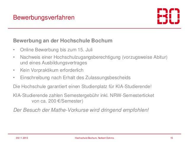 52 09112010 hochschule bochum - Fh Bochum Bewerbung