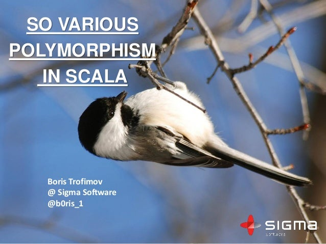 SO VARIOUS POLYMORPHISM IN SCALA Boris Trofimov @ Sigma Software @b0ris_1