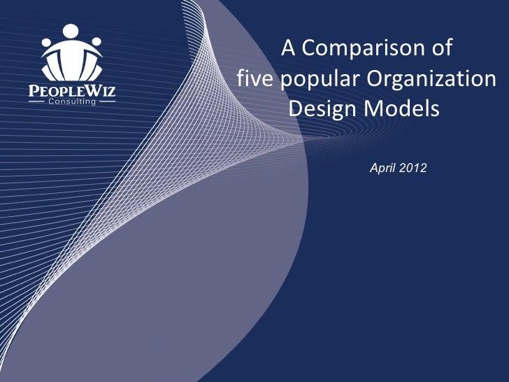 A Comparison offive popular Organization      Design Models            April 2012