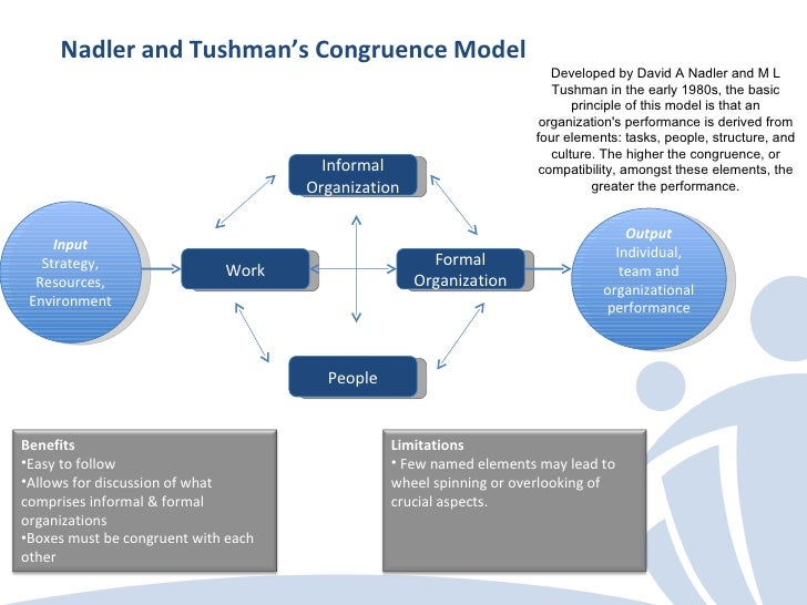 Nadler tushman congruence model company analysis