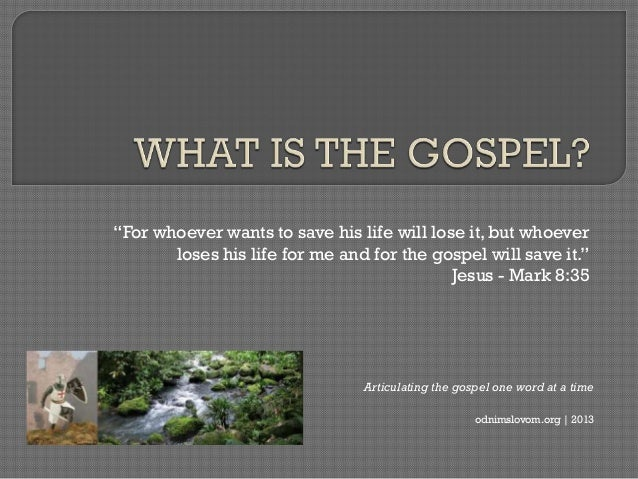 """For whoever wants to save his life will lose it, but whoever       loses his life for me and for the gospel will save it...."