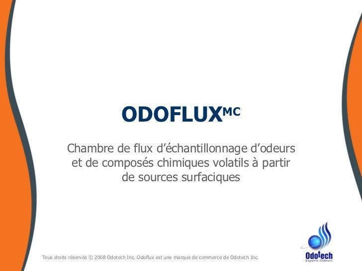 ODOFLUX MC Chambre de flux d'échantillonnage d'odeurs et de composés chimiques volatils à partir de sources surfaciques
