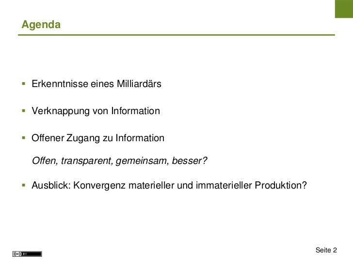 Open Initiatives: Vorteile offener Wissensproduktion und Informationsbereitstellung Slide 2