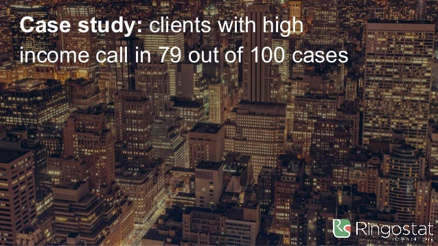 Case study: clients with high income call in 79 out of 100 cases