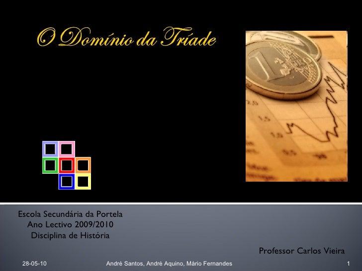 28-05-10 André Santos, André Aquino, Mário Fernandes Escola Secundária da Portela Ano Lectivo 2009/2010 Disciplina de Hist...