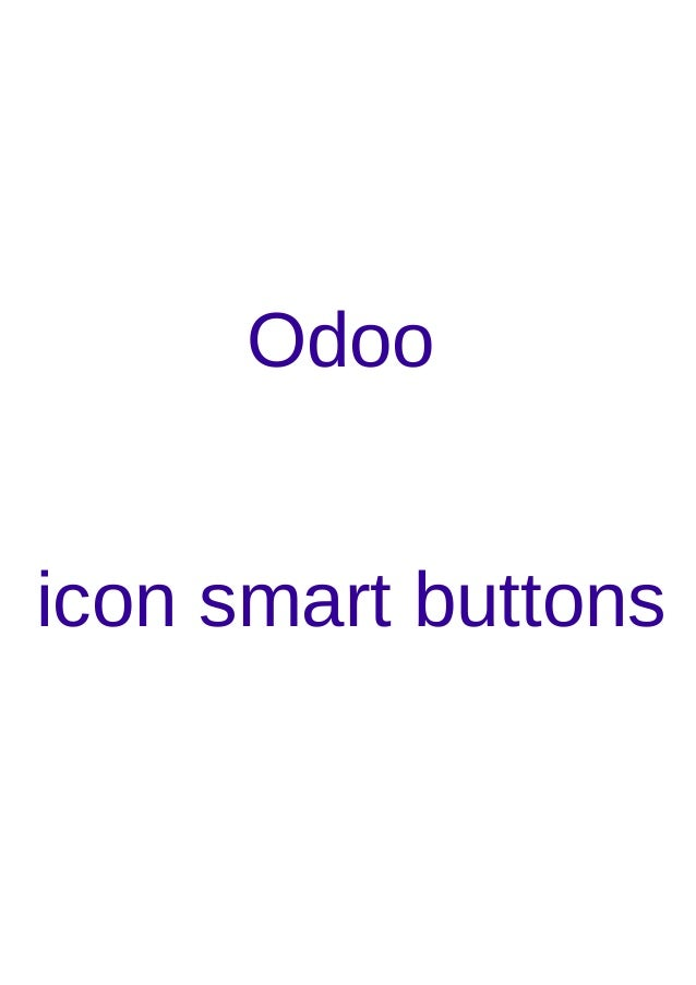 Odoo icon smart buttons