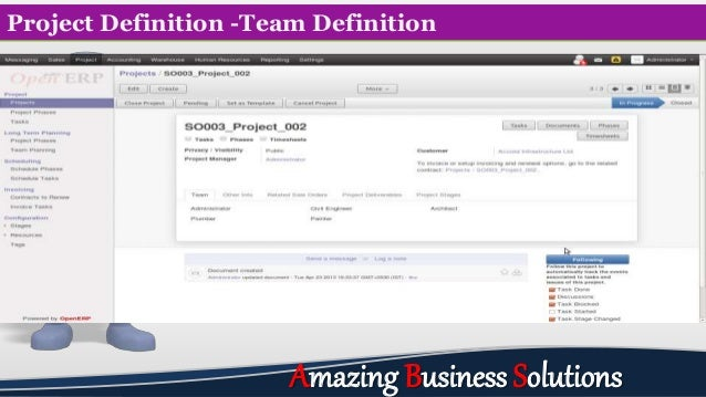 Project Definition -Team Definition Amazing Business Solutions