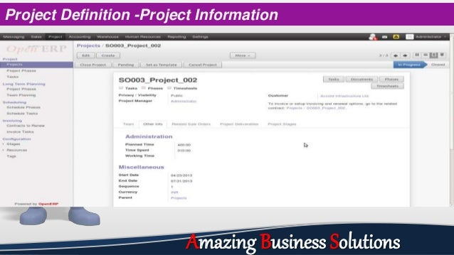Project Definition -Project Information Amazing Business Solutions