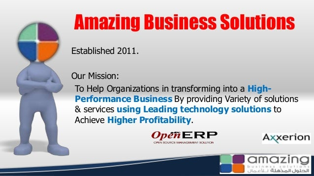 Established 2011. Our Mission: To Help Organizations in transforming into a High- Performance Business By providing Variet...