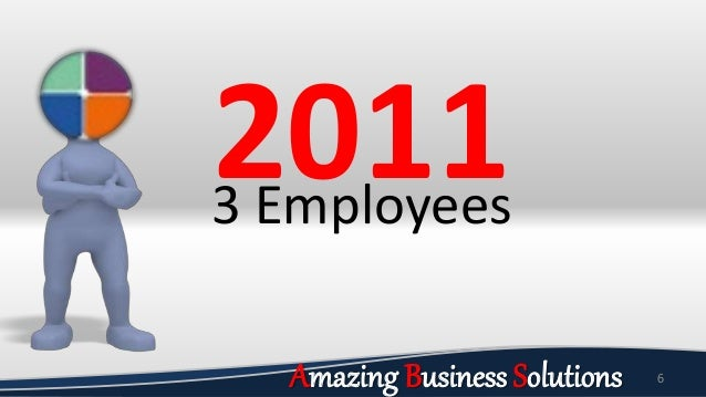 6 20113 Employees Amazing Business Solutions